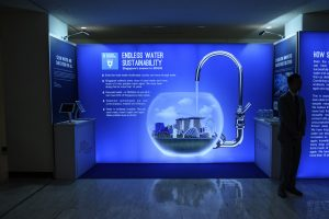 A view of one of the exhibits on display during the 2018 High-Level Political Forum on Sustainable Development. The exhibit is related to Sustainable Development Goal 6: Ensuring access to water and sanitation for all.